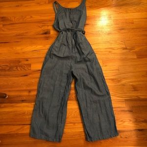 92937eb3f40 Madewell Other - Madewell Muralist Crop Chambray Jumpsuit
